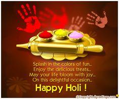 Dgreetings - Wish a family an enjoyable Holi with this Hindi Card.