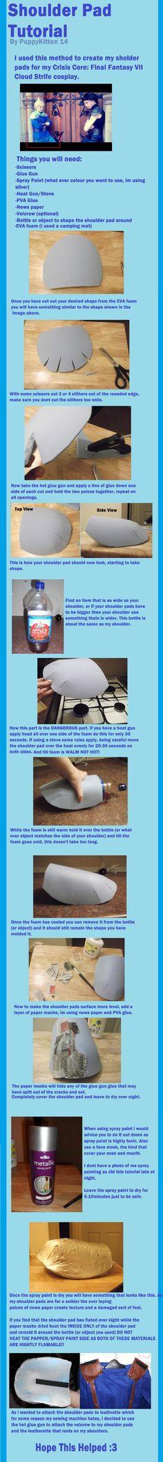 Shoulder Pad Tutorial by PuppyKitten14.deviantart.com on @deviantART