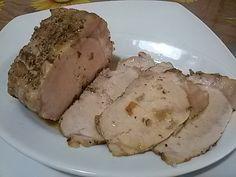 Arista di maiale Buona e veloce….cotta in pentola a pressione!!! Ingredienti per 6 -8 persone: 1 kg. di arista di maiale, 1 spicchio di aglio, 50 g. di bur