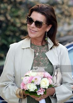 Princess Caroline of Hanover arrives to visit the 'Danse, Danse, Danse' exhibition at the 'New National Museum of Monaco' in Monaco on September 22, 2016. The exhibition will run from September 23 to January 8, 2017. / AFP / VALERY