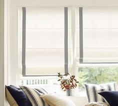 Discover Pottery Barn's collection of custom blinds and window shades. Our blinds come in cotton, linen and natural fibers adding sophistication to any room. House Blinds, Blinds For Windows, Window Blinds, Plywood Furniture, Foyer Furniture, Cordless Roman Shades, Bali Blinds, Custom Blinds, Solar Shades