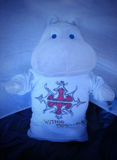 Our first flying moomin, which didin't quite fly 2the stage,cause it was so heavy,but in the end @Within Temptation got it