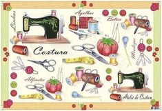 Sewing clipart, ideas for tattoo Sewing Art, Love Sewing, Sewing Crafts, Sewing Tools, Wallpaper Gratis, Scrapbook Cards, Scrapbooking, Sewing Clipart, Sewing Room Decor