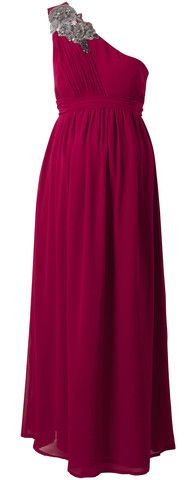 Raspberry Maxi Dress by CRAVE MATERNITY @girlmeetsdress #maternity #girlmeetsdress