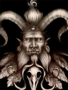 Father of Lies (with Tri-spiral Eyes) by Stu Edwards, via Behance