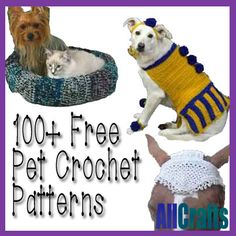 <p>Crochet a little cute something for your little cutie with our updated 100+ Free Pet Crochet Patterns. With free crochet patterns for dogs, cats and even horses, chickens and goats, you're bound to find your next project! You might also like:T-Shirt Yarn Dog Rug and Chew Toy Free Crochet PatternCrocheted …</p>