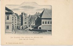 216500) AK das alte Leipzig Ranstädter Tor beim Abriss