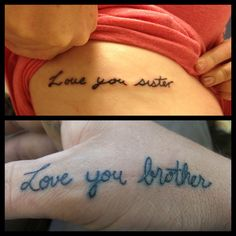 "Workin on a sleeve of ""love"" want my brothers to write something like that out!"