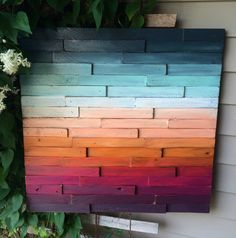 Image result for wood pallet ombre painted