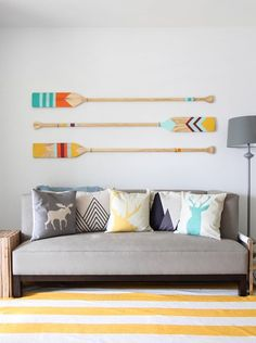 Colorful Camp Oars | Easy DIY Wood Projects For Small Spaces | DIY Projects