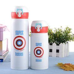 2aed5031c3 Kids Super Hero Travel Water Bottle 350ml/500ml. Travel Water Bottle, Best  Water. Bokkles Co.