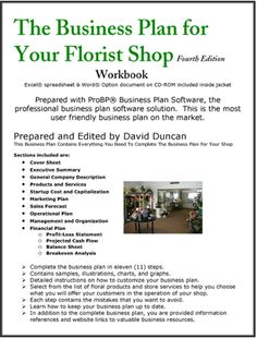Thank you for pinning this it will come in handy The Business Plan for Your Florist Shop