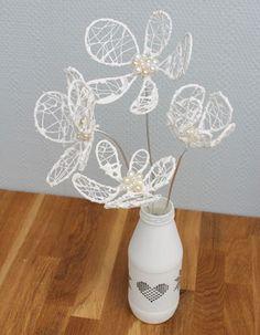 Blomma av aluminiumtråd och stengips | plaster-dipped aluminum wire flower DIY
