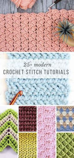 This collection of modern crochet stitches for blankets and afghans is sure to provide inspiration for your next project! This collection of modern crochet stitches for blankets and afghans is sure to provide inspiration for your next project! Crochet Motifs, Crochet Stitches Patterns, Tunisian Crochet, Stitch Patterns, Knitting Patterns, Crochet Afghans, Easy Crochet Stitches, Modern Crochet Patterns, Crocheting Patterns