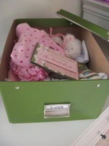 "Organizing a keepsake box for all the special items from your children's ""babyhood""...I WILL be doing this project!"