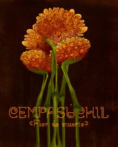 Cempasúchil: mi bella flor de muerto on Behance