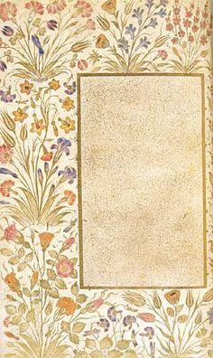 Muhibbi Divani, Illuminated By Karamemi(Turkish Art) Islamic Art Pattern, Pattern Art, Art Background, Background Patterns, Mughal Miniature Paintings, Flower Graphic Design, Pop Art Wallpaper, Illumination Art, Madhubani Art
