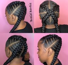 61 Totally Chic And Colorful Box Braids Hairstyles To Wear! Kids Braided Hairstyles, African Braids Hairstyles, Protective Hairstyles, Girl Hairstyles, Ponytail Hairstyles, Teenage Hairstyles, Trendy Hairstyles, Hairstyle Braid, Black Hairstyle