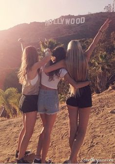 Take a pic in front of the Hollywood sign<--- definitely on bff bucket list! Best Friends Forever, Three Best Friends, 3 Friends, Dream Friends, Best Friend Pictures, Bff Pictures, Friend Photos, Squad Pictures, Friendship Pictures