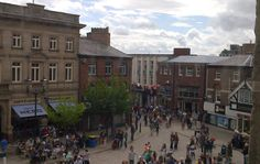 View of Market Square. Macclesfield Cheshire