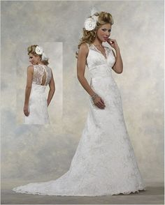 @Rebecca Stefanski... love the back of this! Forever Yours Wedding Dress Style 411205