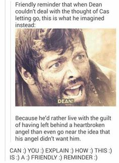 If Destiel is so canon why is it not canon