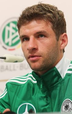 Thomas Mueller // press conference // Euro 2012