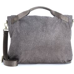 Borbonese Shoulder Bags (18.115 RUB) ❤ liked on Polyvore featuring bags, handbags, shoulder bags, grigio, borbonese handbags, borbonese and zipper purse