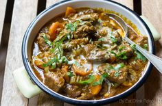 This hearty paleo lamb curry recipe is a bit of a fusion but is primarily Indian in flavour. It's very easy to make and can be done in a slow-cooker and frozen.