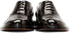 Maison Martin Margiela Black Leather Men's Shoes