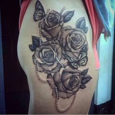 small tattoos for women with meaning Rose Tattoos For Women, Leg Tattoos Women, Shoulder Tattoos For Women, Tattoos For Women Small, Tattoos For Guys, Small Tattoos, Girly Tattoos, Body Art Tattoos, Hip Tattoos