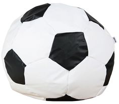Woodlii Saccosäck Sport Fotboll Large Vit/Svart - Bean bag chair