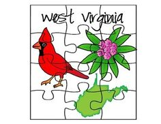 West Virginia State Facts Puzzle Set by AJ Bergs | TpT
