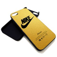 Nike Logo Gold Texture For IPhone 4 4s Or 5 Case Black