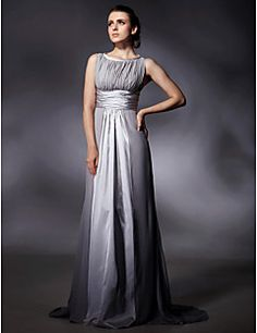 Stretch Satin Chiffon Sheath/Column Sweep Train Evening Dress inspired by Jane Adams at Golden Globe. Get amazing discounts up to 70% Off at Light in the Box with Coupon and Promo Codes.