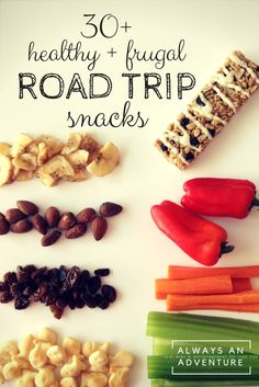 Need ideas for healthy road trip snacks that you actually want to eat? These are awesome.