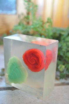 Rose Bouquet Soap Bar $4.75 @SoapHouseWife #soap #glycerine #rose #bath
