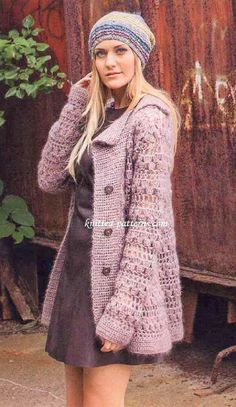 Lapel Jacket To Crochet And Wear This Winter
