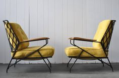 Rare Pair of Salterini Lounge Chairs   From a unique collection of antique and modern patio and garden furniture at https://www.1stdibs.com/furniture/building-garden/garden-furniture/
