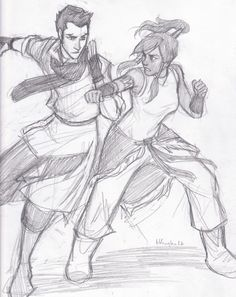 Burdge fan art of Legend of Korra