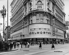 Woolworth, at Powell and Market Street, San Francisco1952 to 1987For kids of a certain era, a trip to Woolworth was right up there with going to Disneyland. This retail chain had its five and dime stores all over the Bay Area, but the original San Francisco store in the Flood Building  was the most fabulous with a pet shop, a garden store, a sporting goods and tool department, two lunch rooms, a bakery, delicatessen counter and more than 50,000 items for sale. Life was good when you went to…