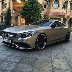Matte grey Mercedes-Benz S65 AMG Coupe -- Photo by @nasser_1919_