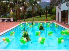 Resultado de imagen para decoración de piscinas para fiestas