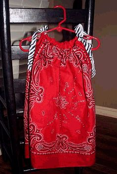 two bandannas to make a pillowcase dress - too cute & too easy!