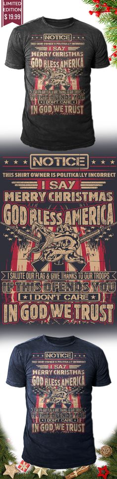 Christmas Gift Defend America - Get this limited edition Christmas T-Shirt just in time for the holidays! Buy 2 or more, save on shipping!