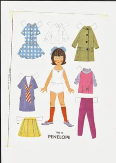 penelope* 1500 free paper dolls at Arielle Gabriel's International Paper Doll Society for other paper doll Pinterest pals...*