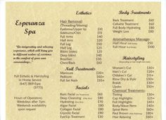 Esthetician list of things to study at university