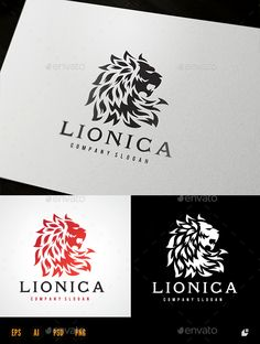 Lion — Photoshop PSD #luxury brand #head lion • Available here → https://graphicriver.net/item/lion/15541702?ref=pxcr