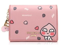 KAKAO Friends x Bean Pole Pink Mini Wallet Miss A Suzy Limited Edition APEACH  #BeanPolexKAKAOFriends #WomenMiniWallet