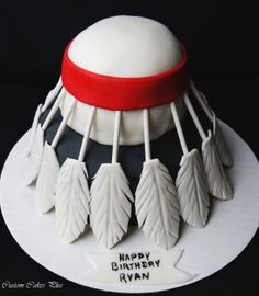 Badminton birdie birthday cake